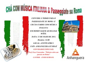 convite Chá com música italiana (1)